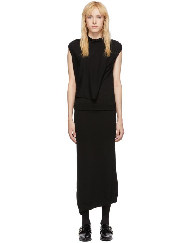 photo Black Askance Dress by McQ Alexander McQueen - Image 1