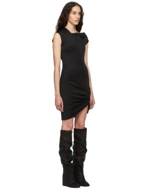 photo Black Front Drape Dress by Helmut Lang - Image 2