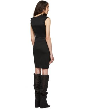 photo Black Front Drape Dress by Helmut Lang - Image 3