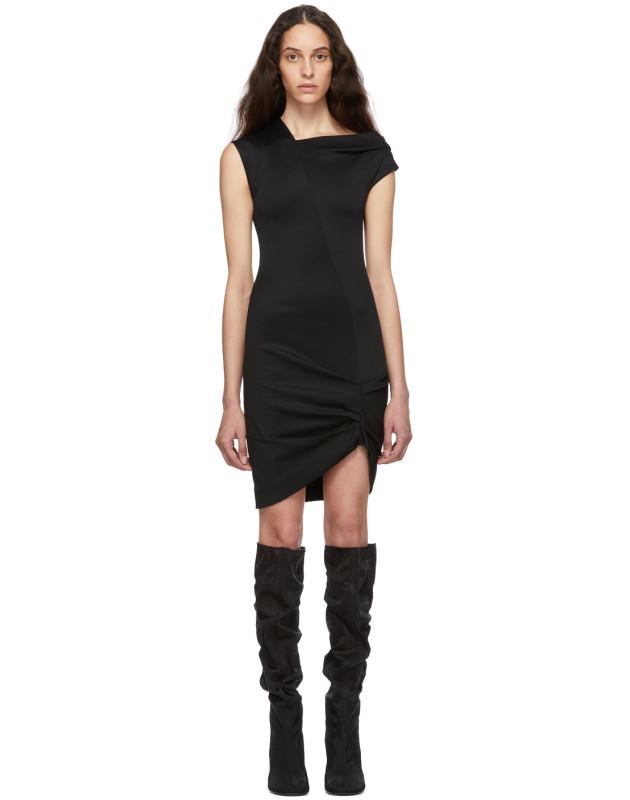 photo Black Front Drape Dress by Helmut Lang - Image 1