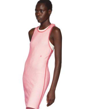 photo Pink Masc Tank Dress by Helmut Lang - Image 4