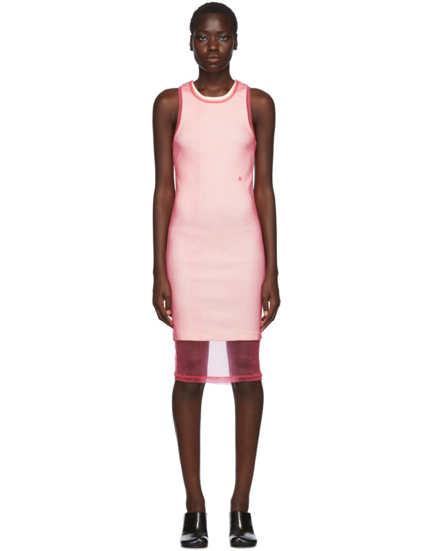photo Pink Masc Tank Dress by Helmut Lang - Image 1