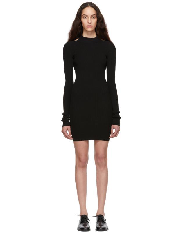 photo Black Open Back Dress by Helmut Lang - Image 1