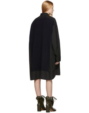 photo Black Cotton Poplin Dress by Maison Margiela - Image 3