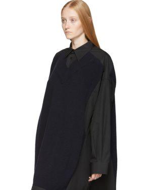 photo Black Cotton Poplin Dress by Maison Margiela - Image 4