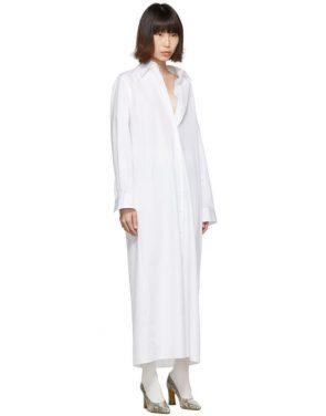 photo White Long Shirt Dress by Maison Margiela - Image 2