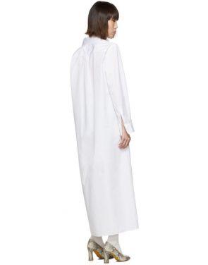 photo White Long Shirt Dress by Maison Margiela - Image 3