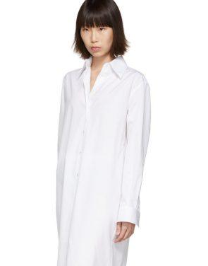 photo White Long Shirt Dress by Maison Margiela - Image 4