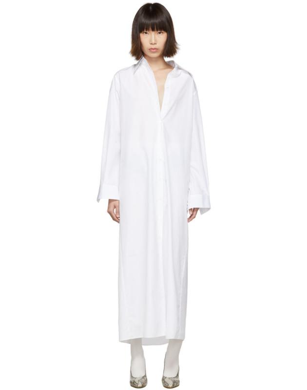 photo White Long Shirt Dress by Maison Margiela - Image 1