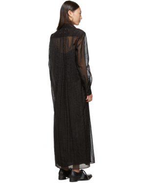 photo Black Organza Long Shirt Dress by Maison Margiela - Image 3
