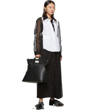 photo Black Organza Long Shirt Dress by Maison Margiela - Image 5