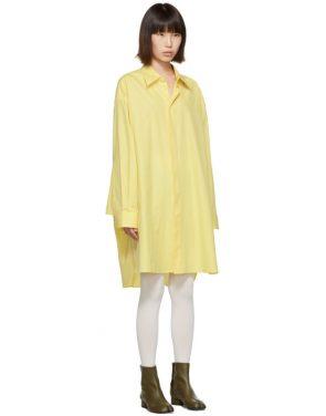 photo Yellow Oversized Shirt Dress by Maison Margiela - Image 2