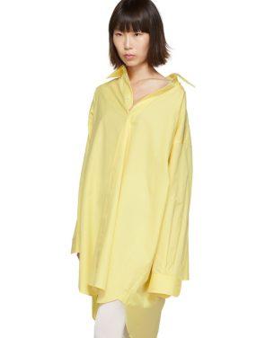 photo Yellow Oversized Shirt Dress by Maison Margiela - Image 4