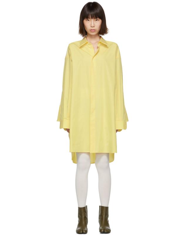 photo Yellow Oversized Shirt Dress by Maison Margiela - Image 1