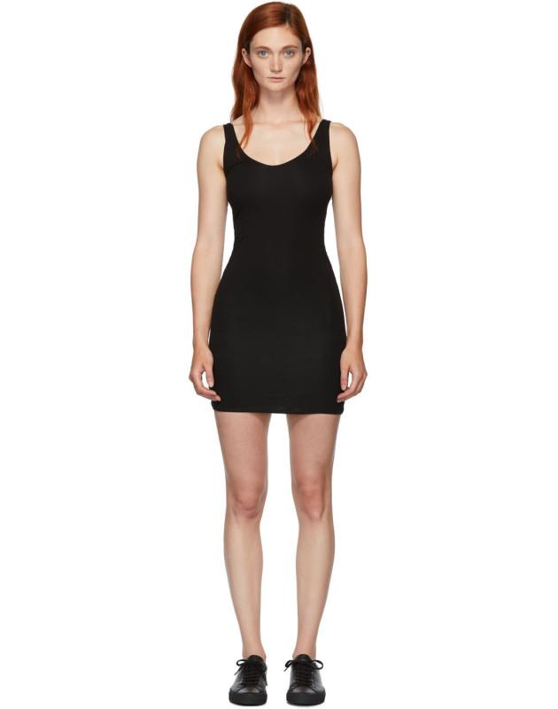 photo Black Rhea Chemise Dress by Skin - Image 1