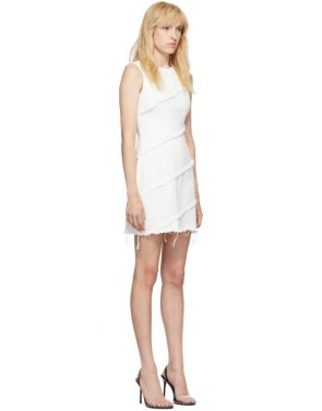photo White Diagonal Seamed Dress by Alexander Wang - Image 2