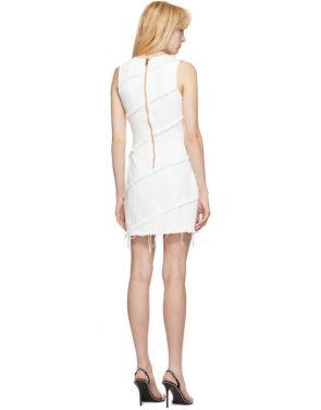 photo White Diagonal Seamed Dress by Alexander Wang - Image 3