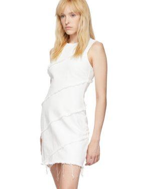 photo White Diagonal Seamed Dress by Alexander Wang - Image 4
