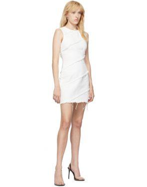 photo White Diagonal Seamed Dress by Alexander Wang - Image 5