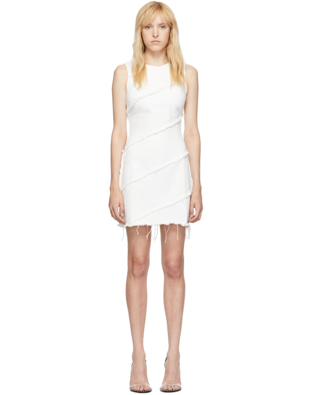 photo White Diagonal Seamed Dress by Alexander Wang - Image 1
