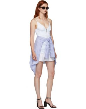 photo White and Blue Ruched Dress by Alexander Wang - Image 5