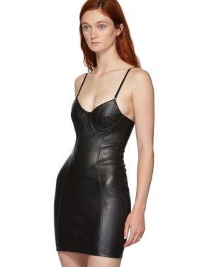 photo Black Leather Stretch Dress by Alexander Wang - Image 4