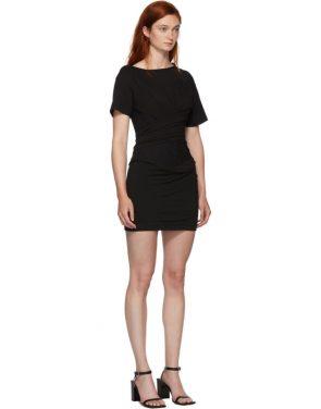 photo Black Draped T-Shirt Bustier Dress by Alexander Wang - Image 2