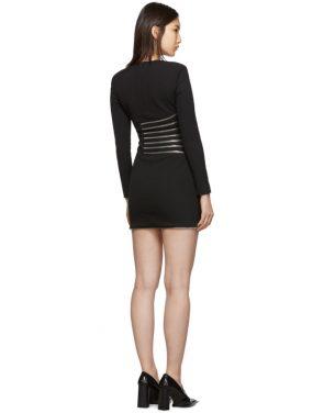 photo Black Sunburst Zip Dress by Alexander Wang - Image 3
