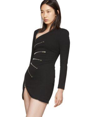 photo Black Sunburst Zip Dress by Alexander Wang - Image 4
