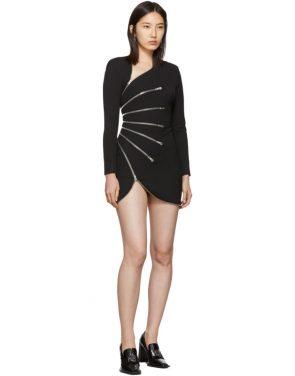 photo Black Sunburst Zip Dress by Alexander Wang - Image 5