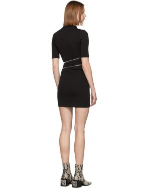 photo Black Travelling Zip Rib Dress by Alexander Wang - Image 3