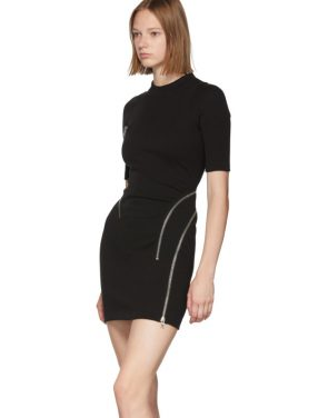 photo Black Travelling Zip Rib Dress by Alexander Wang - Image 4