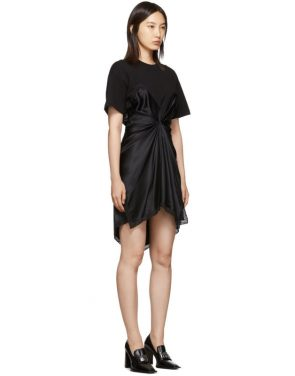 photo Black Cinched T-Shirt Slip Dress by Alexander Wang - Image 2