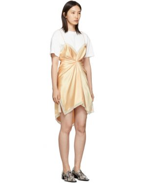 photo Pink Cinched T-Shirt Slip Dress by Alexander Wang - Image 2