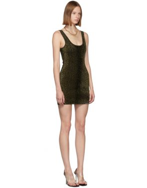 photo Black Animal Print Mini Tank Dress by Alexander Wang - Image 2