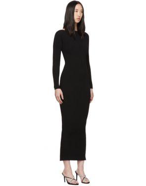 photo Black Moving Rib Splittable Dress by Alexander Wang - Image 2