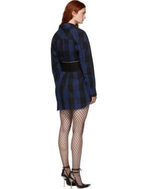 photo Black Plaid Shirt Dress by Alexander Wang - Image 3