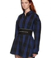 photo Black Plaid Shirt Dress by Alexander Wang - Image 4