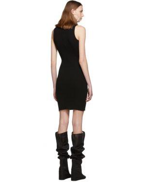 photo Black Slit Turtleneck Dress by MM6 Maison Margiela - Image 3