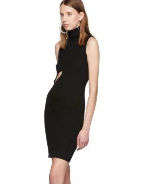 photo Black Slit Turtleneck Dress by MM6 Maison Margiela - Image 4
