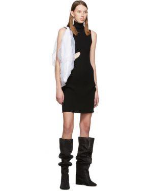 photo Black Slit Turtleneck Dress by MM6 Maison Margiela - Image 5