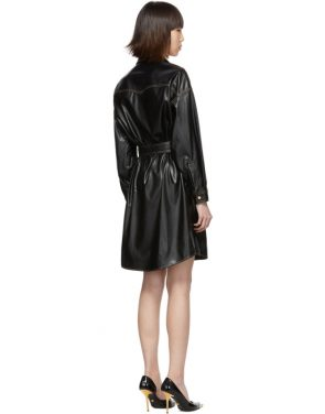 photo Black and Gold Spread Shirt Dress by Versace Jeans Couture - Image 3