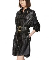 photo Black and Gold Spread Shirt Dress by Versace Jeans Couture - Image 4