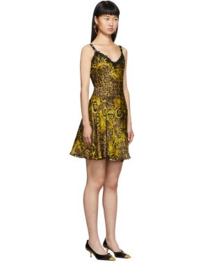 photo Gold Leopard Baroque Dress by Versace Jeans Couture - Image 2