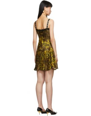 photo Gold Leopard Baroque Dress by Versace Jeans Couture - Image 3