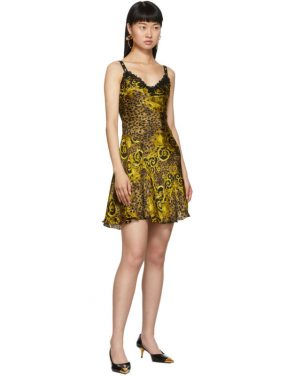 photo Gold Leopard Baroque Dress by Versace Jeans Couture - Image 5