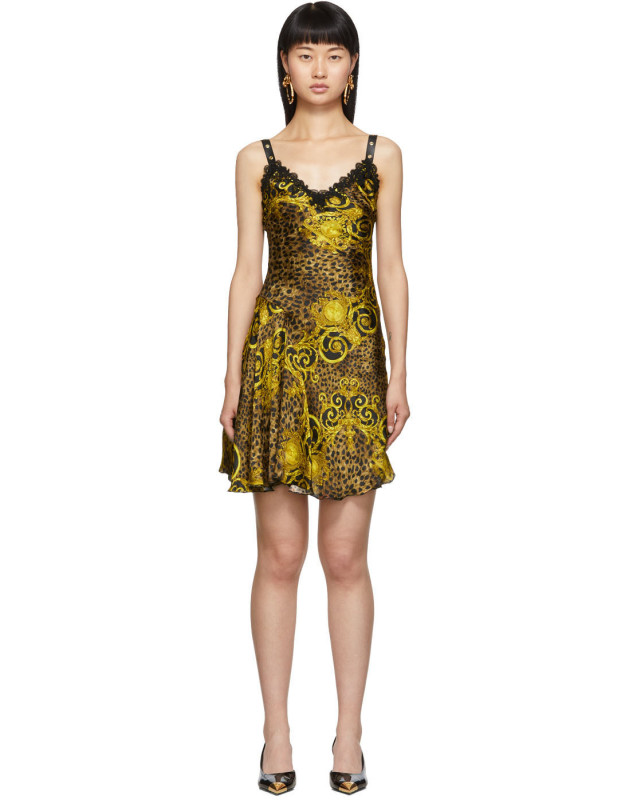photo Gold Leopard Baroque Dress by Versace Jeans Couture - Image 1
