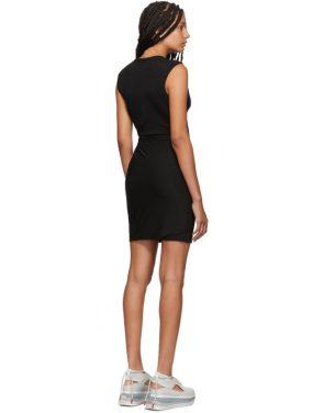photo Black Crepe Jersey Twisted Minidress by alexanderwang.t - Image 3