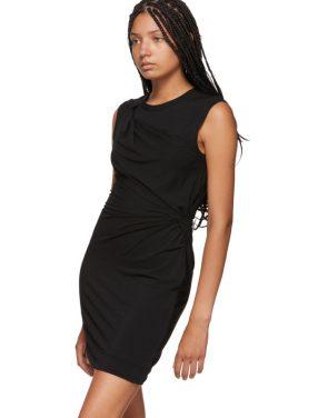 photo Black Crepe Jersey Twisted Minidress by alexanderwang.t - Image 4