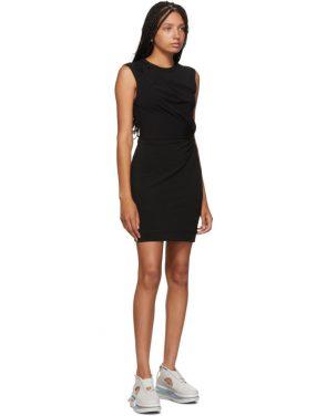 photo Black Crepe Jersey Twisted Minidress by alexanderwang.t - Image 5